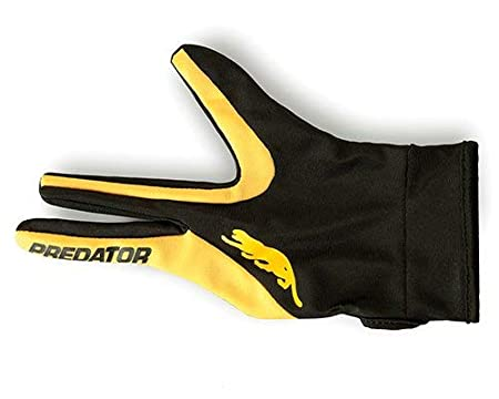Left Hand Glove Size S//M L//XL Predator Pool Cue Glove in Yellow//Black Color Professional Billiards Accessories for Right Handed Player