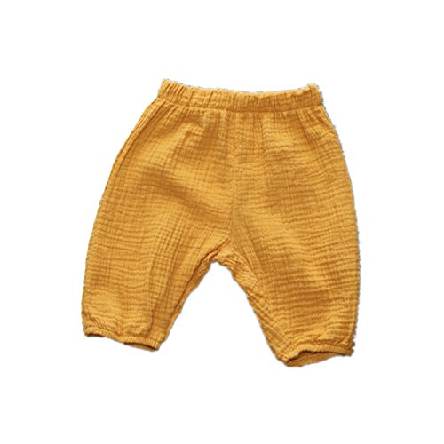 Winzik Newborn Infant Baby Kids Outfits Solid Color Summer Casual Shorts Harem Pants Trousers (2-3 years, Yellow) ()