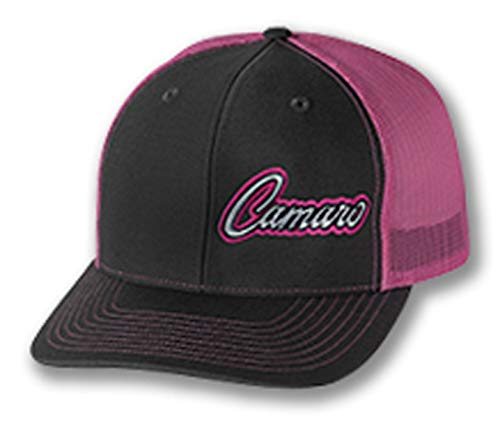 Gregs Automotive Compatible Camaro Trucker Hat Cap Pink Chevrolet Chevy - Bundle Driving Style Decal