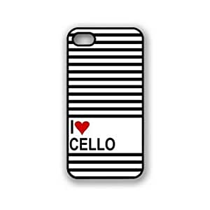 Love Heart Cello iPhone 5 & 5S Case - Fits iPhone 5 & 5S