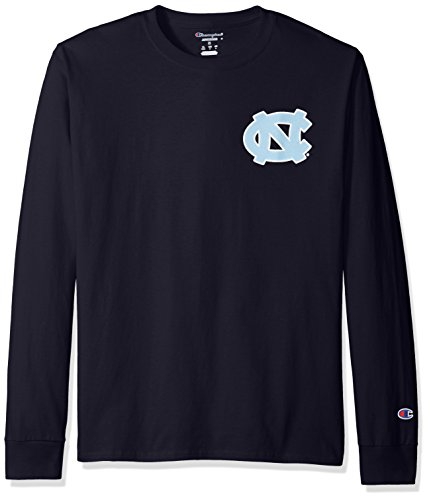 Tar North Carolina Heels Champion - NCAA North Carolina Tar Heels Men's Champs Long Sleeve T-Shirt, X-Large, Navy