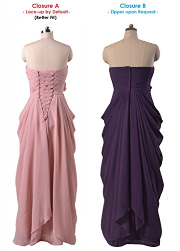 Gowns Chiffon Bridesmaid BM332L DaisyFormals byzantium Prom Evening Sweetheart 2 Dress Long 1qnCf