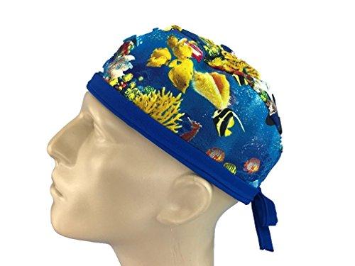 Mens Scrub Hat - Surgical Scrub Cap - Skull Cap - Hospital Scrub Hat - Under the - House Sea