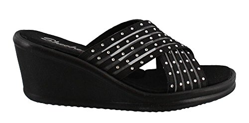 Rumblers Para Mujer Skechers-flashies Slide Sandal Black