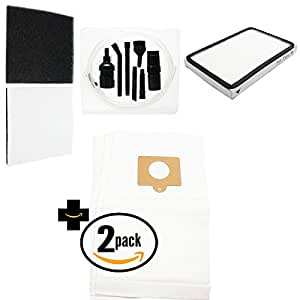 6 Replacement Kenmore 11625914503 Vacuum Bags, 1 HEPA Filter & 1 Foam Filter with 7-Piece Micro Vacuum Attachment Kit - Compatible Kenmore 50558, 5055, 50557, Type C Vacuum Bags; 86889, EF-1 Filter & 86883, CF-1 Filter