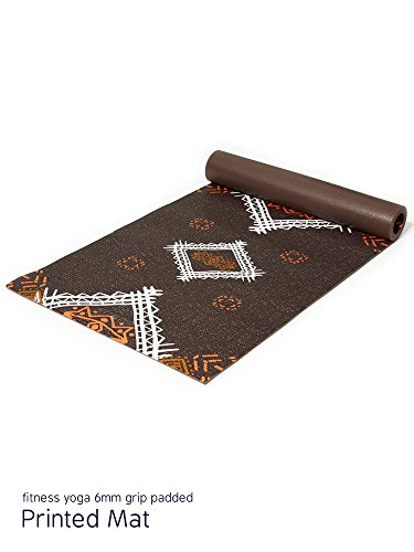 APANA Fitness Yoga 6mm Firm Grip Padded Printed Mat, Brown Southwest Print Review