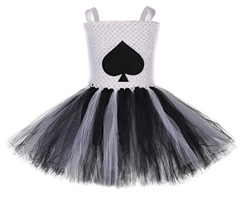Jack Of Spades Costume (Tutu Dreams Cards Costume for Baby Girls Poker Jack of Spades Role Play Tutu Dress Halloween Photo Props (Jack, Small)