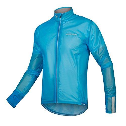 Endura FS260-Pro Adrenaline Race Cape II - Men's Lightweight, Waterproof & Breathable Cycle Shell Hi-Viz Blue, X-Large