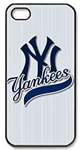 icasepersonalized Personalized Protective Case for iPhone 5/5S - MLB Sports New York Yankees Team Logo