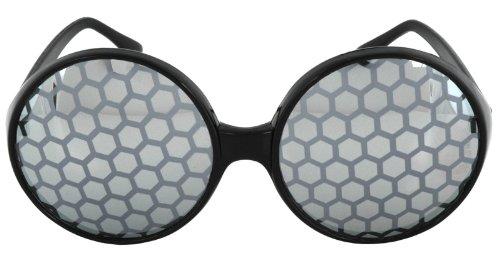 Elope 196815 Bug Eyes Glasses- Black (Teacher Costume)