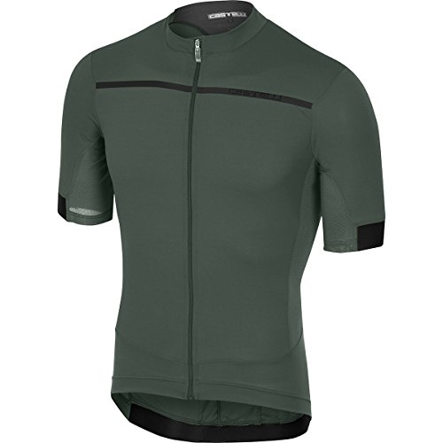 Castelli Forza Pro Jersey - Men's Forest Gray, M from Castelli