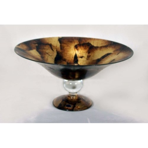 belco-66-2048-murano-glass-gold-foil-footed-centerpiece-bowl