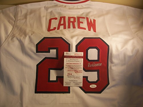 Rod Carew Minnesota Twins Signed Jersey Rod Carew Minnesota Twins