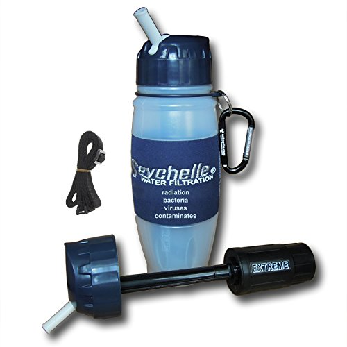 Seychelle EXTREME Water Bottle filters Contaminants, Radi...