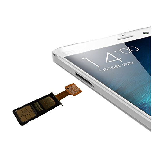 XSC Dual SIM Card Micro SD Adapter for Android Extender 2 Nano SIM Micro SIM MINI SIM Adapter for XIAOMI REDMI NOTE 3 4 3s PRO Max and Samsung Huawei Smart Phones (nano sim)