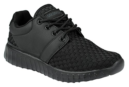 Lace 618 Campus Lightweight Casual Up Mens Black Sneaker Fashion AwfqRAT