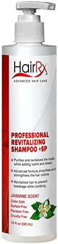 HairRx Professional Revitalizing Shampoo +SP (for Oily Scalps) with Pump, Light Lather, Jasmine Scent, 10 Ounce