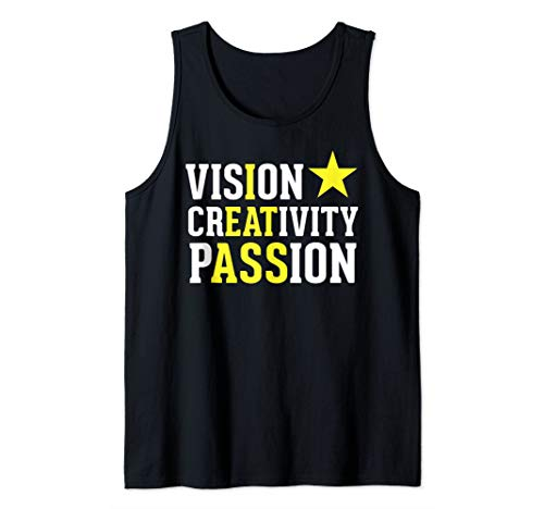 Vision Creativity Passion - Funny Hidden Message - I Eat Ass Tank Top