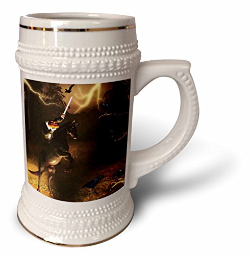 3dRose Renderly Yours Autumn And Halloween - Headless Horseman Rides In Sleepy Hollow - 22oz Stein Mug -