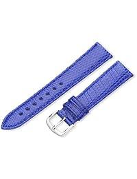 Hadley-Roma Women's LSL715RF 180 18mm Blue Genuine Java Lizard Watch Strap