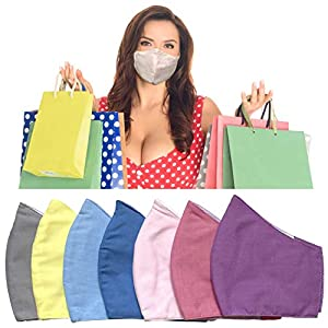 Face Masks - Pack of 7 - Assorted Colors