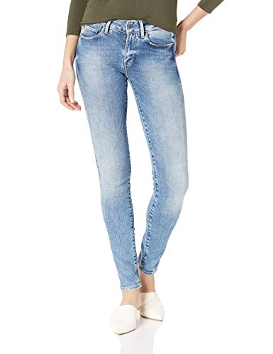 - G-Star Raw Women's 3301 High Rise Skinny Fit Jean in Nippon Superstretch, Medium Aged, 32