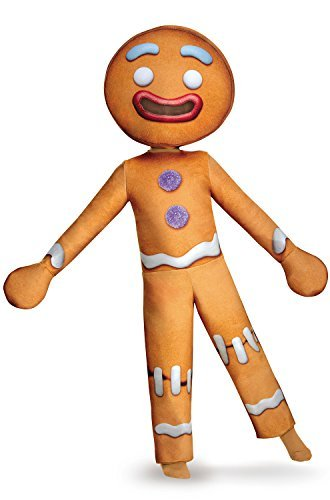 [Disguise Gingy Deluxe Costume, Medium (7-8) by Disguise] (Shrek Gingy Costume)