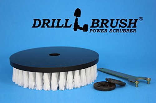 Round Nylon 7 Inch Scrub Brush For Rotary Buffers And