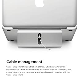 elago L3 Stand [Silver] - [Premium Aluminum][Prevents Bad Posture][Natural Heat Sink] - for Laptop Computers