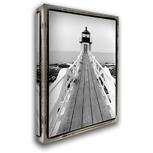 Marshall Point Light, Maine 18x24 Gallery Wrapped Stretched Canvas Art by DeNardo, Laura - Marshall Point Light
