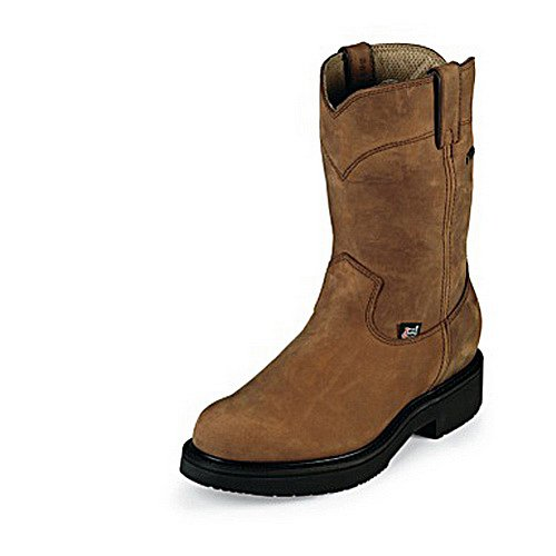 Justin 6604 - Aged Bark Work Boots 10 Inch Waterproof