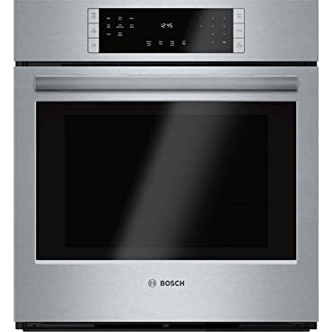 "Bosch HBN8451UC 800 27"" Stainless Steel Electric Single Wall Oven Convection"