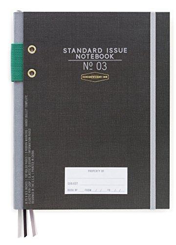 DesignWorks Ink Standard Issue Bound Personal Journal, Black (Best Poetry Journals 2019)