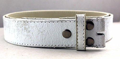 Letter Love Faashion Vintage Distressed Genuine Leather Belt Strap 1-1/2