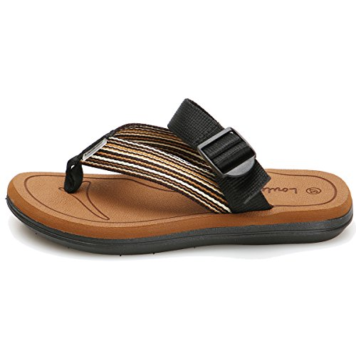 Cior Hombres Y Mujeres Chancleta De Playa Hecha A Mano Moda Interior Y Exterior Sandalias Clásicas De La Correa Brown01