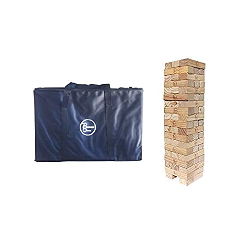 Giant Wooden Tumbling Timbers | Mega-Sized Pine Blocks Stacking Game for Indoor Outdoor Use | Puzzles Like Fun for Kids & Adults | Heavy Duty Duffle Bag Included | Topple or Tumble the Tower to - Special Attack Booster Pack