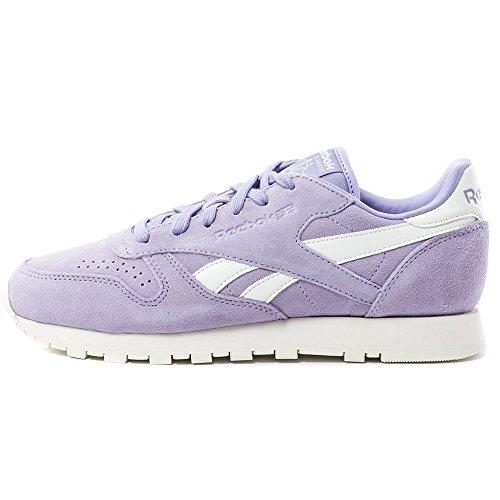 Reebok Couleur Blanc 39 Pointure V68681 Lthr violet Suede Cl Core 0 TWnnqcAHC