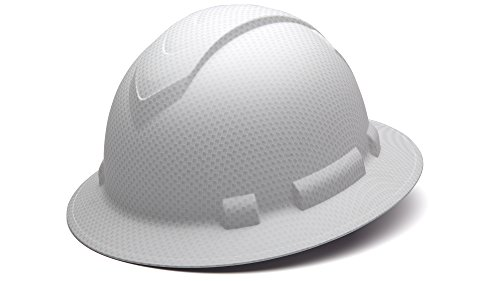 Pyramex Safety HP54116 Ridgeline Full Brim Hard Hat (White Graphite Pattern) (White Hardhat)