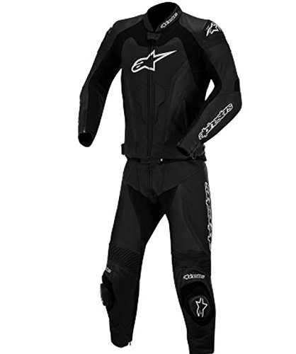 Alpinestars GP Pro Two-Piece Leather Suit, Gender: Mens/Unisex, Primary Color: Black, Size: 56, Apparel Material: Leather, Distinct Name: Black 3165014-10-56