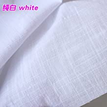 """Linen Cotton Blend Fabric Linen Fabric Summer Dress Clothing Fabric Skirt Apperal 55"""" Wide Sold By The Yard (white)"""