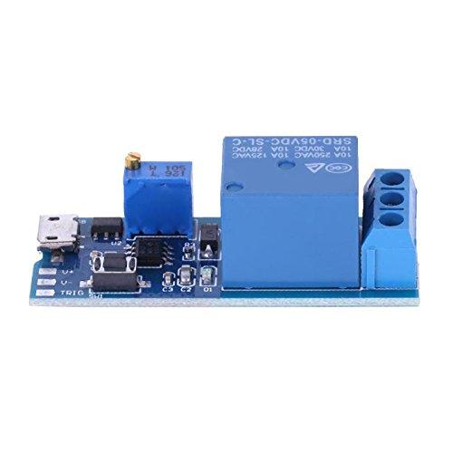 JULUJ Wide Voltage 5V-30V Trigger Delay Relay Module Delay Conduction Switch Timer Module Board