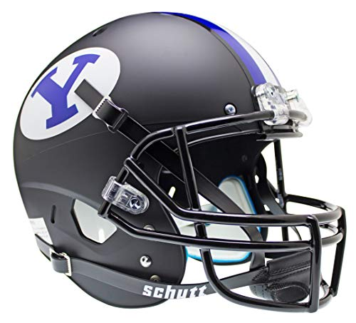 NCAA BYU Cougars Replica XP Helmet - Alternate (Matte Black)