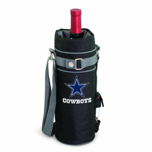 NFL Dallas Cowboys Insulated Single Bottle Wine Sack with Corkscrew