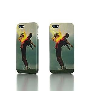 taoyix diy Apple iPhone 5 / 5S Case - The Best 3D Full Wrap iPhone Case - Flaming Football
