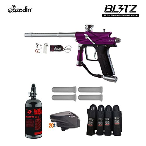 - MAddog Azodin Blitz 3 Advanced Paintball Gun Package - Purple