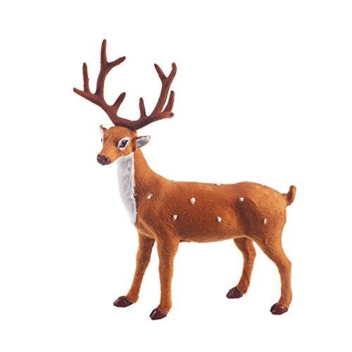 OULII Christmas Soft Toy Reindeer Simulation Standing Deer Elk Decoration 9.8