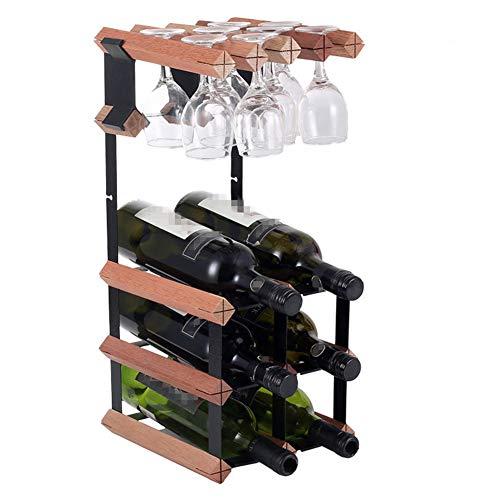 Ainia Vino Rack Madera Vino Rack Bar Vino Rack Piedra Whisky Rack Cerveza Equipo Soporte Botella