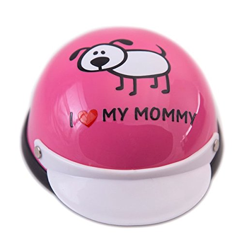 Helmet for Dogs, Cats and All Small Pets, Pet Accessory - I Love My Mommy(Pink) for small dogs 5-10 lbs.