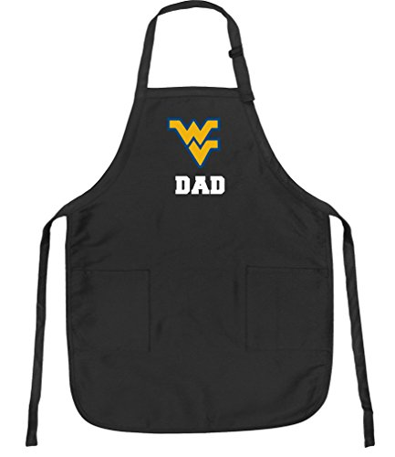 Broad Bay West Virginia University Dad Aprons NCAA WVU Dad Apron w/Pockets by Broad Bay