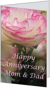 Anniversary Flower Beautiful Mom Dad Parents (Q56) Greeting Card by (Birchcraft Card)